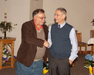 Michael Spath and Dr. Mark Braverman  Grace Episcopal Church. 11 April 2013